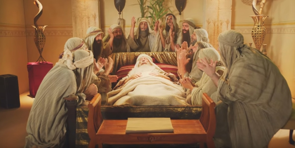 Jacob blessing his sons on his deathbed